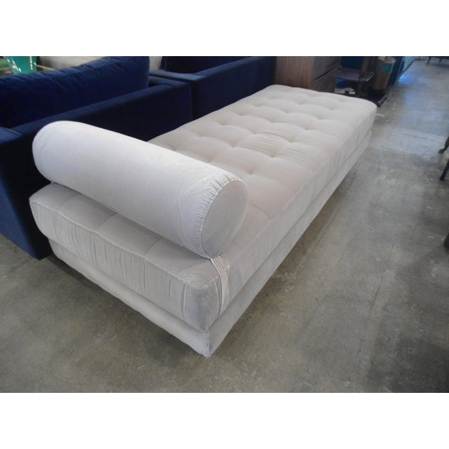 Intuition Light Gray Tufted Velvet Daybed - Image 5 of 7