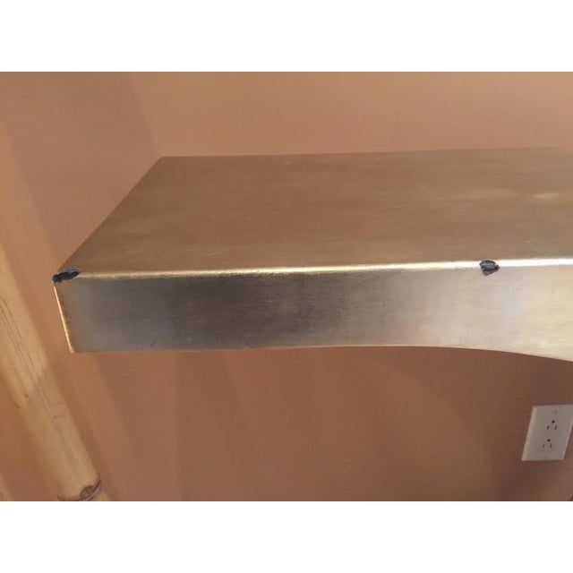 Image of Silver Lacquered Wood & Nickel Console Table