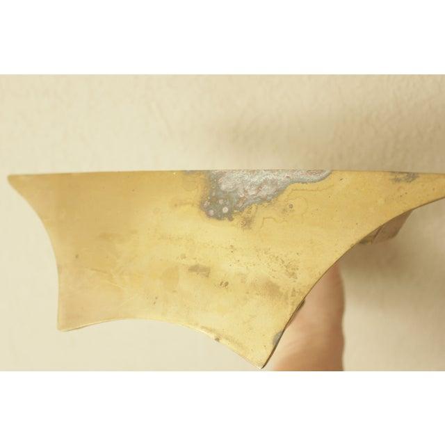 Image of Hollywood Regency Brass Floating Wall Shelves - 2