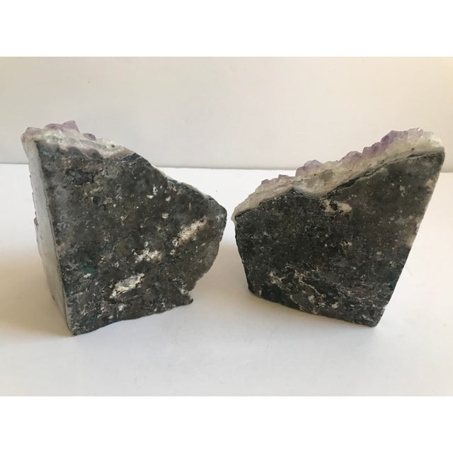 Large Geode Amethyst Bookends - a Pair - Image 4 of 6