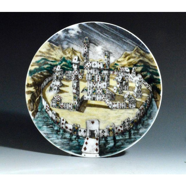 Piero Fornasetti Citta DI Carte City of Cards Plates in Complete Set of Twelve - Image 10 of 10