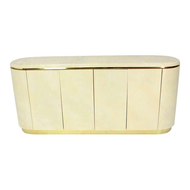 Mid-Century Modern, Drum Shape Long Credenza Server in the Springer Style - Image 1 of 7