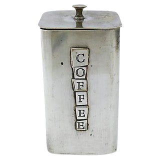 Mid-Century Silver Plate Coffee Canister