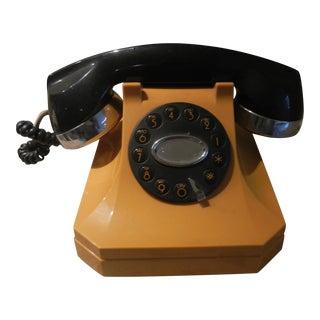 Black & Yellow Vintage Style Telephone