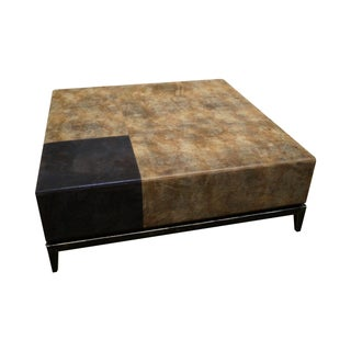 Large Leather Frame Square Ottoman