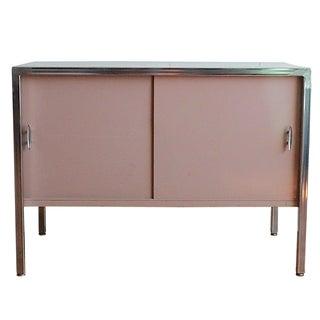 Steel & Chrome Pink Credenza