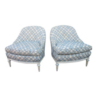 Pair of French Fauteuils / Slipper Chairs