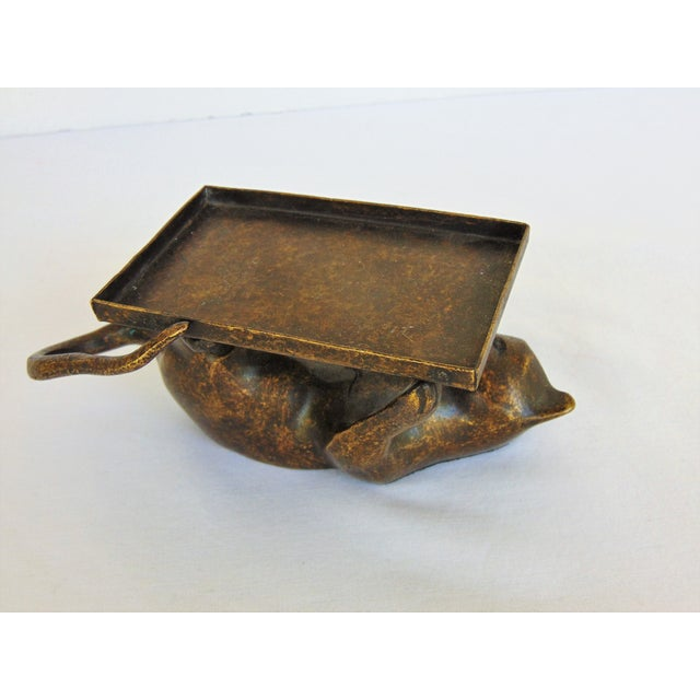 Antiqued Brass Cat Business Card Holder - Image 3 of 4
