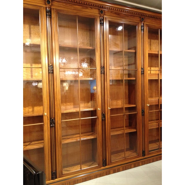 Italian Bookcase Library With Glass Doors Chairish
