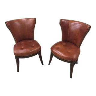 Theodore Alexander Swivel Klismos Desk Chairs - A Pair