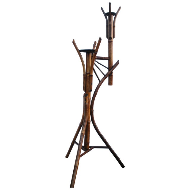 Antique Bamboo Plant Stand Aesthetic Movement - Image 1 of 8