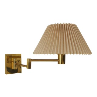 Casella Lighting Brass Swing Arm Wall Sconce