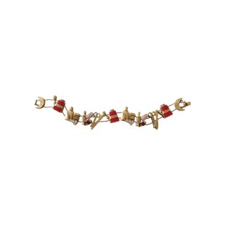 Vintage Beauty Salon Charm Bracelet