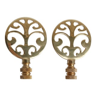 Tree of Life Solid Brass Finials - A Pair