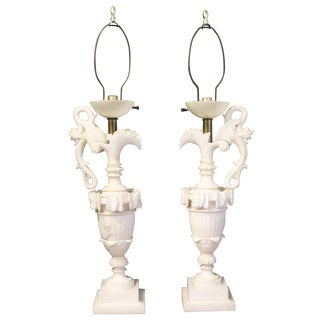 Alabaster Table Lamps - A Pair