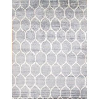 Pasargad N Y Contemporary Viscose Silk Rug - 9' X 12'