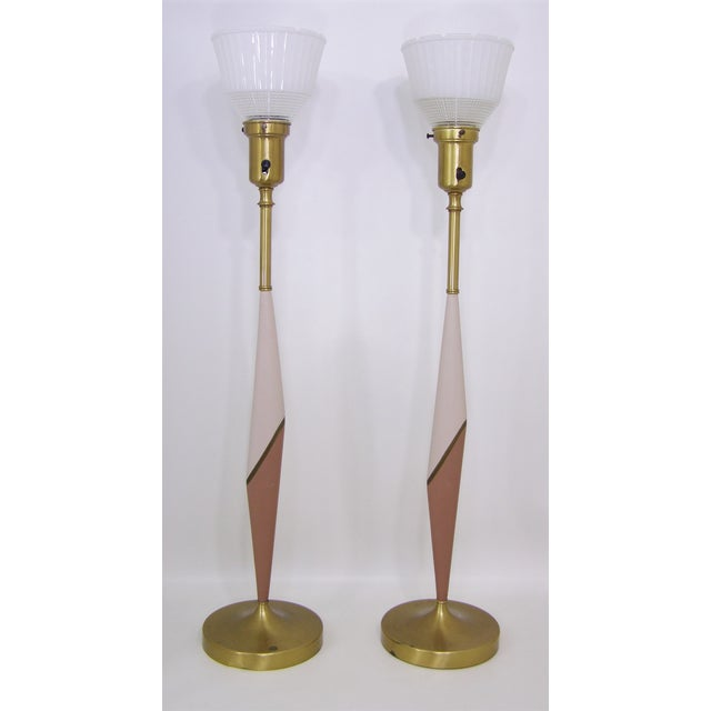 Mid Century Rembrandt Lamp: Mid-Century Modern Tall Rembrandt Lamps - Pair