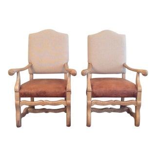 Henredon Ralph Lauren Arm Chairs - A Pair