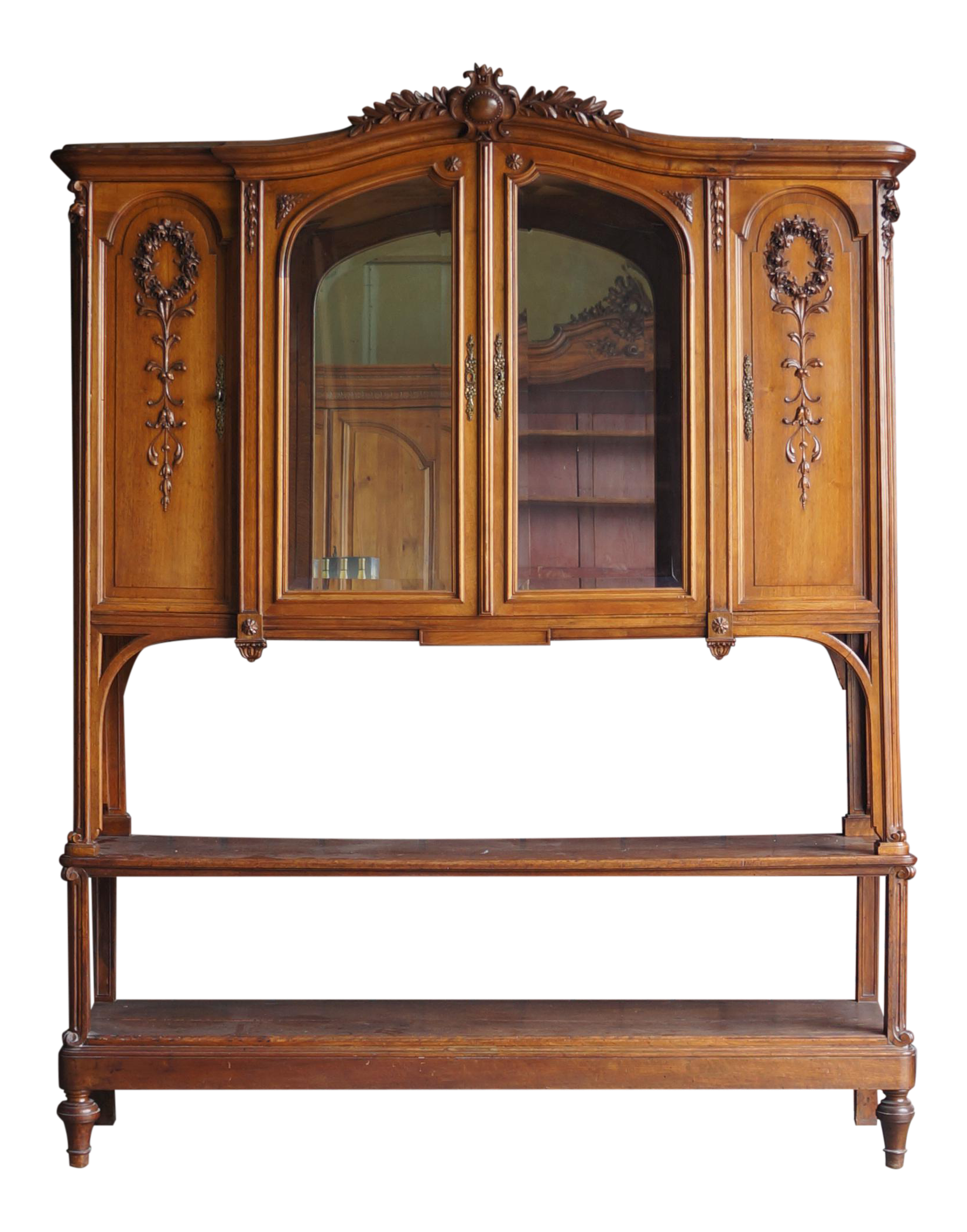 Antique French Provincial China Hutch / Display Cabinet