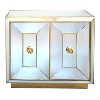 Glamorous American Hollywood Regency Mirrored Two-Door Cabinet