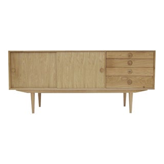 Mid-Century Danish Style Oak Media Credenza
