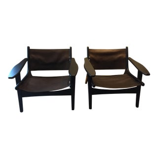 Room & Board Lars Leather Lounge Chairs - a Pair