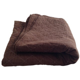 Quilted Bedspread in Chocolate