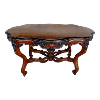 19th-C Louis XV Library Center Table