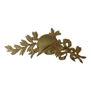 French Gilt Bronze Wall Plaque