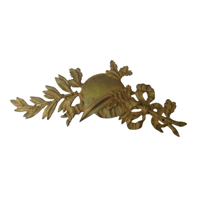 French Gilt Bronze Wall Plaque - Image 1 of 7