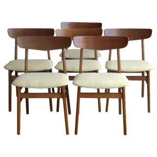 Sax Danish Modern Teak Dining Chairs - Set of 6
