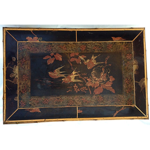 Chinoiserie Black Lacquered Table - Image 4 of 6