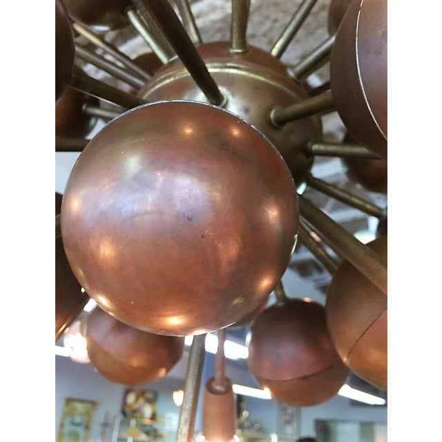 Image of Vintage Brass Sputnik 20 Light Chandelier
