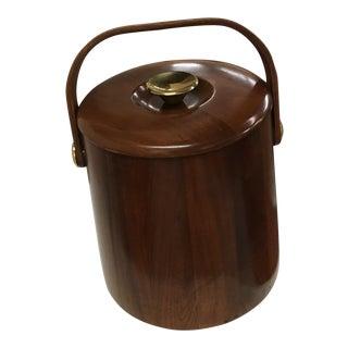 Mid-Century Modern Wood Ice Bucket