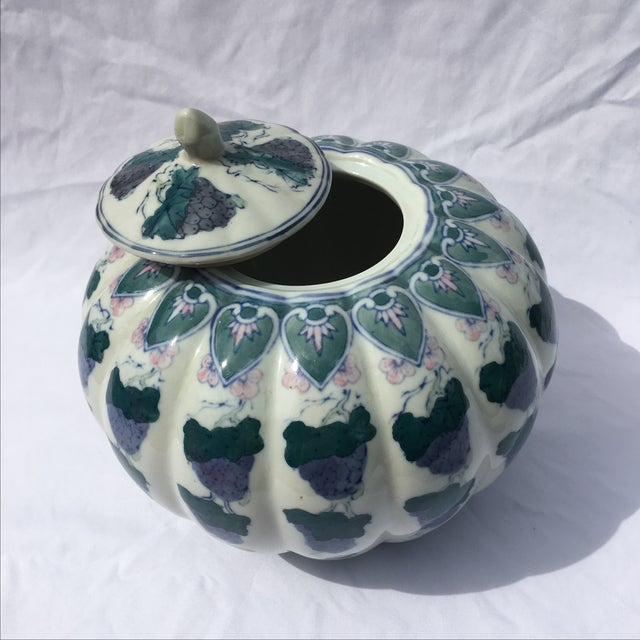 Vintage Chinoiserie Gourd Style Ginger Jar - Image 4 of 5