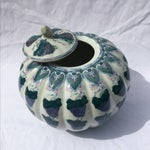 Image of Vintage Chinoiserie Gourd Style Ginger Jar