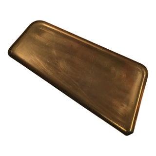 Mid Century Modern Asymmetrical Brass Tray