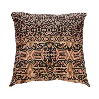 Black Tribal Patterned Pillow Cover