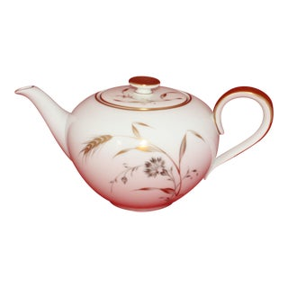 Heinrich & Co Vintage Bavarian Porcelain Hand Painted Teapot