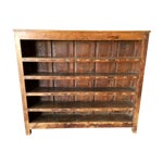 Image of Vintage Industrial Wooden Bookcase