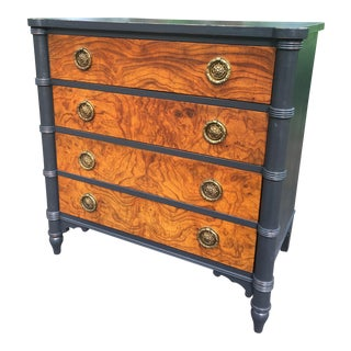 Black and Burl Chest of Drawers