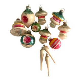 Vintage Colorful Ornaments - Set of 12