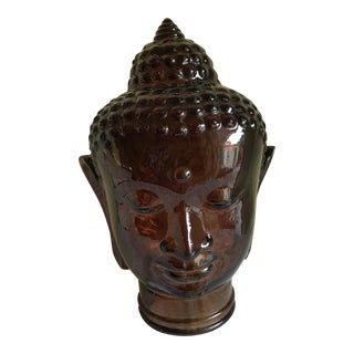 Large Glass Buddha Head