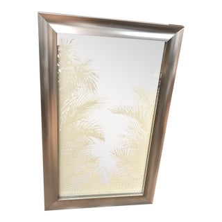 Silver Palm Leaf Mirror