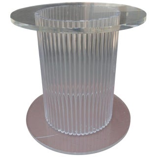 Column Style Lucite Center Table by Ritts Furniture Company