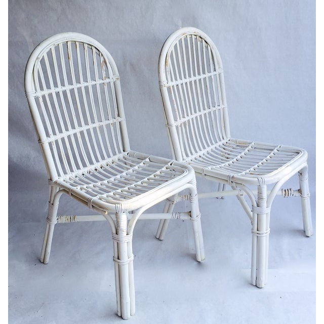Image of Mid-Century Bent Wood Bamboo Chairs - A Pair