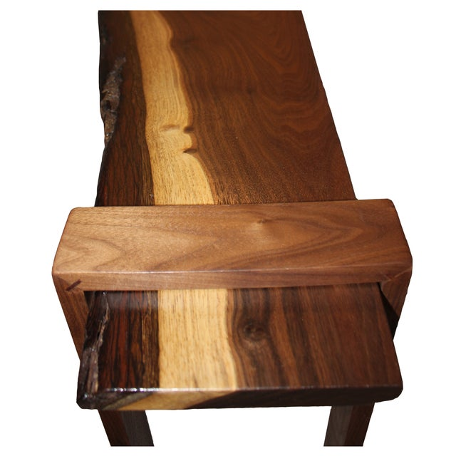 Saturn Inlaid Walnut Console Table - Image 3 of 4