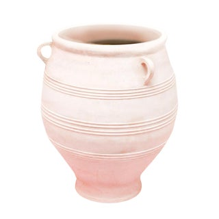 Large Ceramic Shaped Planter in Champagne Pink
