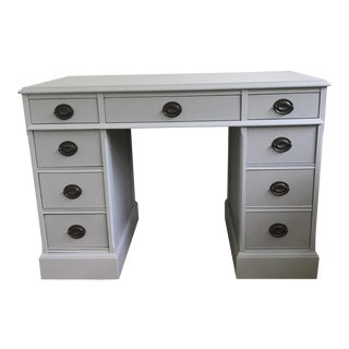 Vintage Light Gray Desk