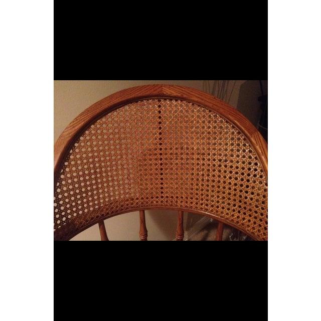 Vintage Cane Lawyers Adjustable Desk Chair - Image 4 of 6